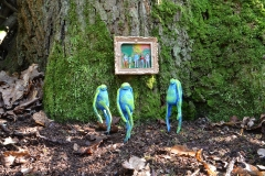 Watching - extraterrestrial art - outdoor nature - conceptual photograph - multidimensional sculpture - entity art