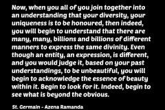 St_Germain_quote_love_diversity_beauty_spirituality_consciousness_