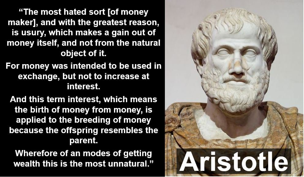 Aristotle Quote About Practice: Usury: The Root Cause Of All Problems On The Planet
