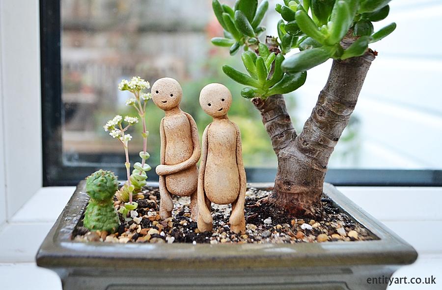 Plant Guardians – surreal sculptures – cactus succulent plant pots