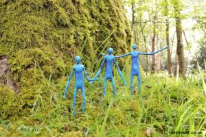 extraterrestrials aliens love nature woodland moss star wars inter-dimensionals blue tree web 3 beings photo wm
