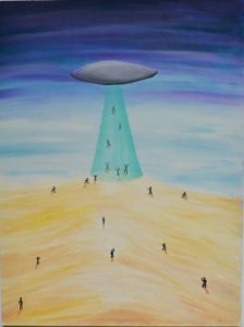 ufo subconscious memory - aliens - MILAB - extraterrestrials - early art - late teens