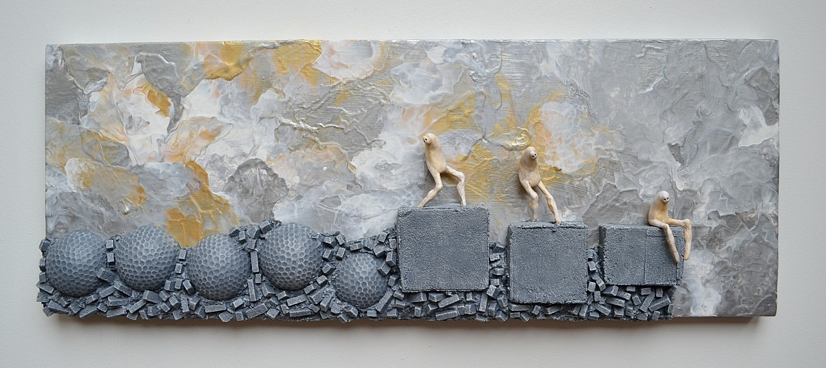 Concrete Wall Art : Wall hanging sculpture selection mixed media paintings