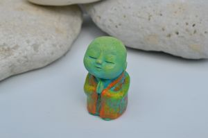 Anshin green  - sculpture surreal praying meditating monk monks statue buddha buddhist spiritual cute colourful.JPG