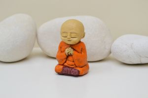 Wakei - orange monk sculpture serene spiritual praying meditation meditation buddhist.JPG