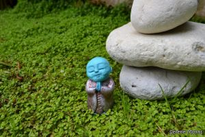 c13-Myoki - Monk sculpture outside - meditating praying - sculptures monks - buddhism - buddhist sliver blue cute statue monks spiritual.JPG