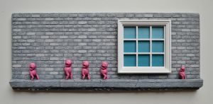 window brick wall sculpture pink beings.JPG